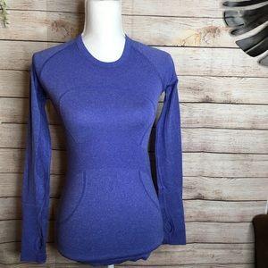 Lululemon blue long sleeves shirt size 4